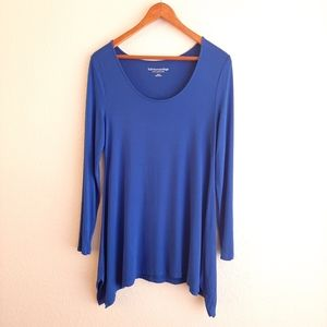 SOFT SURROUNDINGS blue long sleeve tee shirt